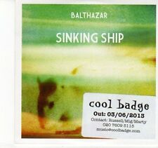 (DN801) Balthazar, Sinking Ship - 2013 DJ CD