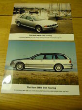 BMW 540i TOURING PRESS PHOTOS - 2  Brochure  jm