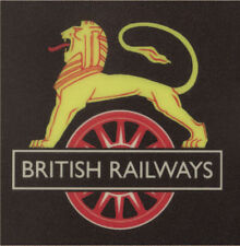 BR early Lion on wheel crest sign railway  NRM British Railways