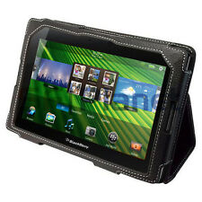 Black Leather Flip Stand Case Folio for BlackBerry PlayBook Tablet 4G