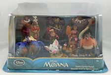 NEW Disney Store Moana Deluxe 10 PVC Figure Playset Figurine Play Set Maui Pua