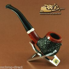 "Hand made Mr.Brog original smoking pipe nr.82 Teak Carved ""CONSUL"" briar *RARE*"