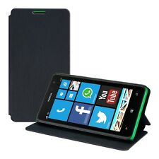 FLIP COVER FOR NOKIA LUMIA 625 BLACK CASE SLIM BACK SHELL HARD MOBILE PHONE