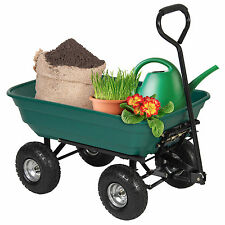 New Heavy Duty Wheel Barrow Dump Cart 650 lbs Capacity Air Tires Wagon Carrier