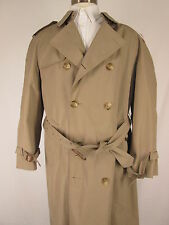 Brooks Brothers Mens Beige Double Breasted Belted Trench Coat 42L