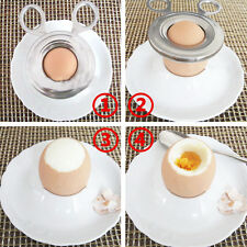 Stainless Steel Boiled Egg Shell Cutter Topper Scissors Clipper Soft Cook Tool