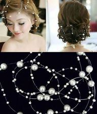 NEW Women Ladies Bridal Wedding Pearls Headband Pearls TS02