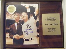 JOE DiMAGGIO MICKEY MANTLE signed NY YANKEES baseball photo AUTO Autographed COA