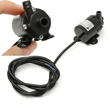 Black 6V-12V DC Brushless Small Water Pump Submersible Motor Pump 1.8M 280L/H