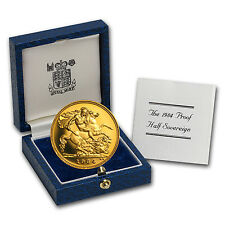 1984 Great Britain Gold 1/2 Sovereign Proof (w/Box & COA)