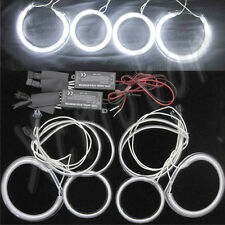 4x CCFL Angel Eye Halo Rings Headlight for Mazda 3 Hatchback 2004-07 White 12V