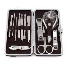 1Set 12Pcs Outil Manucure Pédicure Ciseaux Cuticule Coupe-Ongles Kit Soin Nail