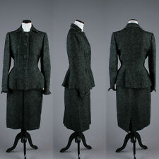 VTG 1940s Flecked Green and Black Lilli Ann Suit - Women's Business