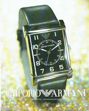 PUBLICITE ADVERTISING 026  2002  Emporio Armani  collection montre ARO 209