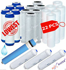 22 PCS Sediment GAC Carbon Reverse Osmosis Drinking Water Filters 3 Year Supply