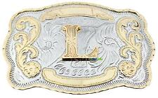 Initial Letter L Western Extra Large Rodeo Cowboy Belt Buckle