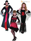 Size 8- 20 Ladies Womens Sexy Vampire Costume Halloween Fancy Dress Adult Outfit