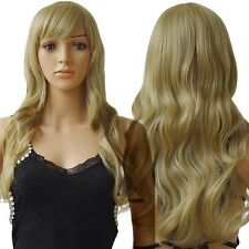 Long New Curly Wavy Straight Full Wig 100% Real Natural Synthetic Hair Wigs USA