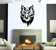 Wall Sticker Vinyl Decal Wolf Tatoo Animal Predator Power  z507