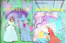 2 Children's Big Golden Books Walt Disney's CINDERELLA and SLEEPING BEAUTY