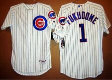 CHICAGO CUBS KOSUKE FUKUDOME WHITE BUTTON-DOWN AUTHENTIC MLB SIZE 40 JERSEY