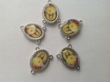 Sacred Heart of Jesus Center Piece for Rosary - (5) Five pieces - Yel-BG - NEW