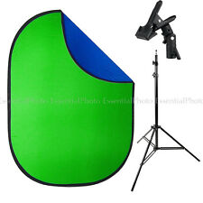 PIXAPRO 1.5x2m Chroma-key Green/Blue Collapsible Background, Stand & Clamp Kit