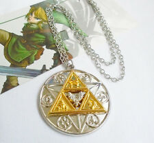The Legend of Zelda Triforce Necklace Courage Power Wisdom Link Triangle Pendant