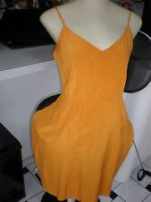 Madewell Broadway & Broome mustard yellow dress tank SINCH  waist sz 2 SILK 100%