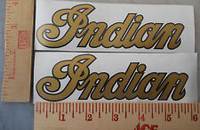 Indian Trailblazer Motorcycle Tank Decals Stickers Metallic Gold & Black New 2ea