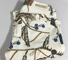 Ralph Lauren Polo Jeans Womens 26 Indian Southwestern Print White Turquoise New