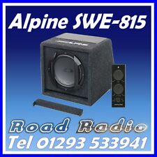 "ALPINE SWE-815 8"" 20cm 150w AMPLIFIED SUBWOOFER BASS BOX INCLUDING WIRED REMOTE"