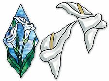 Stained Glass Supplies Calla Lily Bevel Cluster with Free Pattern
