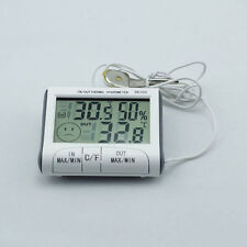 Digital Large LCD Indoor Outdoor Weather Thermometer Hygrometer Humidity Meter