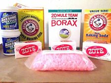 Makes 20 Gallons DIY Laundry Soap Detergent Kit ZOTE Oxygen Baking Soda Borax