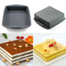 """Large Silicone Square (7.3*1.6"""") Cake Pan Baking Mold Cornbread Mould Bakeware"""