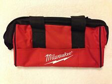 """New Milwaukee M12 13"""" x 6"""" x 8"""" Contractors Tool Bag with 6 Outside Pockets"""