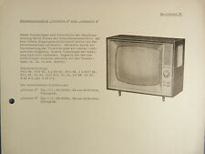 TURNIER 6 und 8 Fernseher Serviceblatt 19 Schaltplan Anleitung RFT DDR