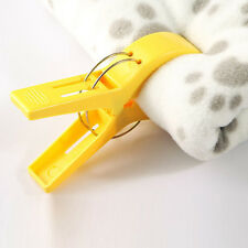 4Pcs New Beach Towel Wind Large Clip Lounger Sunbed Pool Plastic Pegs Towel Tool