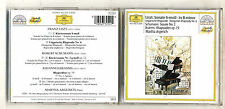 Cd LISZT Sonate in B minor SCHUMANN Sonate 2 BRAHMS Rhapsodia 79 MARTHA ARGERICH