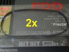 2X MSX 2 / 2+ Rubber Belt for Floppy Disk Drive SONY HB-F1 XD XDmk2 XDJ XV NEW!