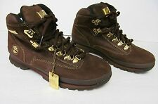 TIMBERLAND Mens Special Edition Brown Suede Leather Boots Gold Tone hardware-8.5
