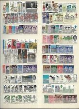 GB COLLECTION 210 LARGE COMMEMORATIVES, USED,1935-1989 (NO CHRISTMAS) (2 SCANS)