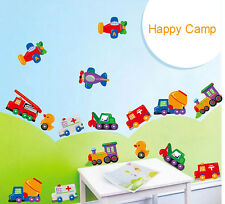 DIY Removable Cartoon Cars Kindergarten Kids Bedroom Decal Wall Sticker Decor