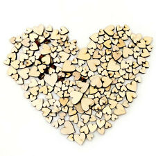 100pcs Rustic Wood Wooden Love Heart Wedding Table Scatter Decoration Crafts DIY