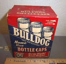 Full box of BULLDOG home use bottle caps, vintage caps, Cupples co St Louis USA