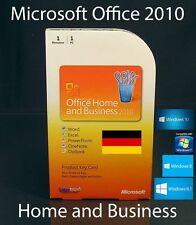 Microsoft Office Home and Business 2010 VERSIONE COMPLETA BOX PKC 32/64bit tedesco OVP