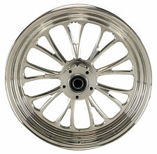 "Manhattan Polished CNC Machined 18"" x 5.5"" Rear Wheel for Harley & Custom Models"