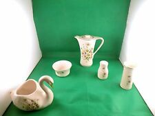 Kernewek Pottery Daisy Set of 5 Items