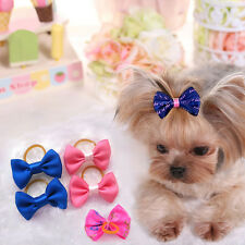 100pcs Handmade Designer Pet Dog Accessories Grooming Hair Bows For Dogs Lovely